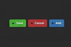彩色按钮psd素材