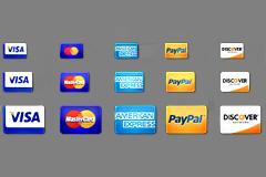五款信用卡图标psd素材