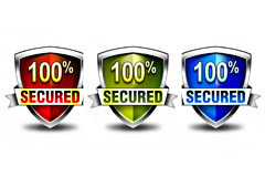 三款百分百100%安全盾psd素材