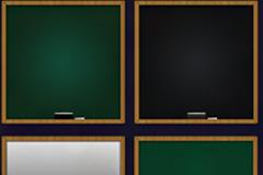 两种颜色两种尺寸的黑板psd素材