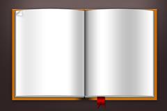 空白书本模板psd素材