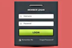 用户登录界面psd素材