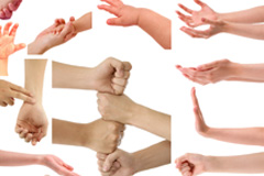 实用的手势合集(一)PSD素材