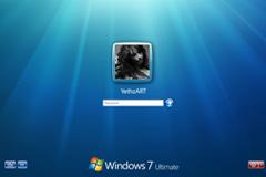 windows 7登陆界面PSD素材