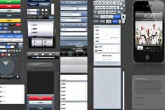 iPhone 4用户操作界面PSD素材