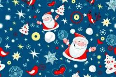 圣诞老人雪夜之旅矢量素材