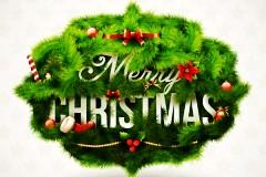 绿色圣诞精美矢量素材
