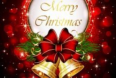 精致圣诞节铃铛矢量素材