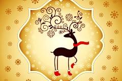 可爱圣诞驯鹿矢量素材