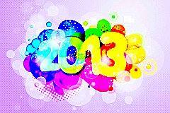 2013炫彩新年矢量素材