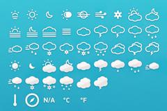 齐全的天气类图标PSD素材