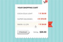 网店购物清算单PSD素材