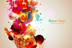 2013立体彩色字体矢量素材