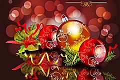华丽圣诞饰品矢量素材