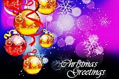 彩色圣诞挂球矢量素材