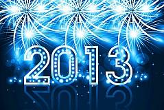 璀璨2013新年贺卡矢量素材