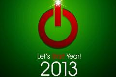 2013新年创意卡片矢量素材