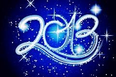 2013雪花新年字体矢量素材