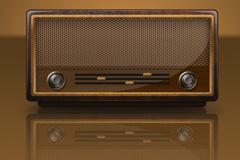 仿古收音机PSD素材