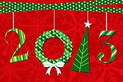2013创意新年卡片矢量素材