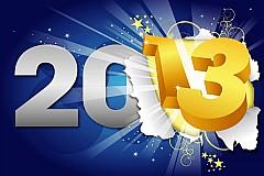 2013闪亮新年字体矢量素材