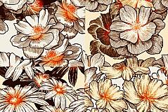 复古花卉背景矢量素材