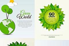 精美绿色概念矢量素材