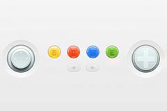 GBA游戏机按钮PSD素材