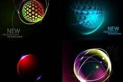 动感太空球矢量素材