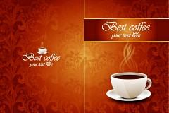 古典咖啡背景矢量素材