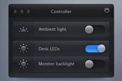 亮度调节控制面板PSD素材