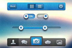 苹果操作系统UI元素PSD素材
