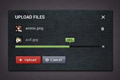 一款文件上传界面PSD素材