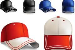 彩色鸭舌帽矢量素材