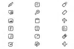 手机界面图标PSD素材
