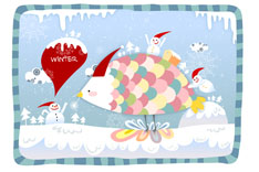 快乐圣诞卡片矢量素材