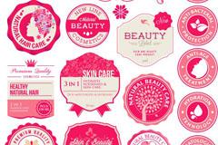 可爱女性粉色图章矢量素材