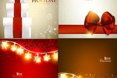 圣诞节礼品卡矢量素材
