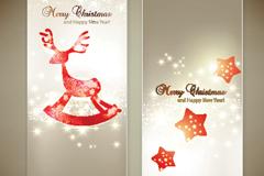圣诞主题卡片矢量素材