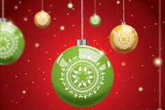 精致圣诞吊球矢量素材