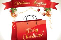 快乐圣诞shopping矢量素材