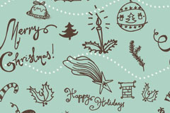 清新圣诞背景矢量素材