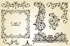 圣诞节装饰花纹矢量素材