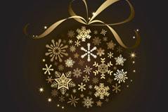 精致雪花圣诞挂球矢量素材