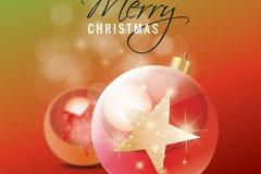 星星圣诞彩球矢量素材