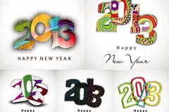 2013创意新年字体矢量素材