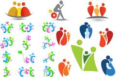 彩色家庭logo矢量素材
