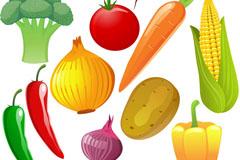 新鲜蔬果矢量素材