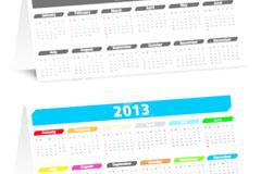 2013简洁台历矢量素材