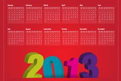 2013年蛇年日历矢量素材